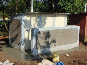 The Water Project:  Latrines Awaiting Their Plaque