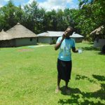 The Water Project: Bung'onye Community, Shilangu Spring -  Practice Brushing Teeth