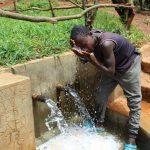 The Water Project: Mushina Community, Shikuku Spring -  Cooling Off At The Spring