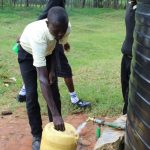 The Water Project: St. Gerald Mayuge Secondary School -  Collecting Water