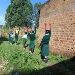 The Water Project: Friends Kuvasali Secondary School -  Students Carrying Water
