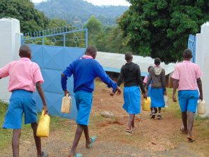The Water Project:  Students Arrive At School Carrying Water