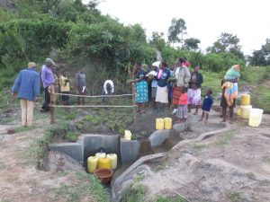 The Water Project:  Planting Grass During Training