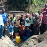 The Water Project: Chegulo Community, Sembeya Spring -  Community Celebrates The Spring