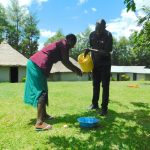 The Water Project: Bung'onye Community, Shilangu Spring -  Handwashing Practice