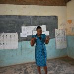The Water Project: Elufafwa Community School -  Trainer Carol In Action