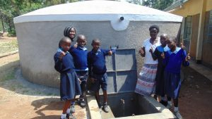 The Water Project:  Studens And Staff Celebrate The Rain Tank