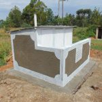 The Water Project: Mukangu Primary School -  Completed Latrine Block