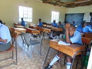 The Water Project:  Students In Class Doing Examinations
