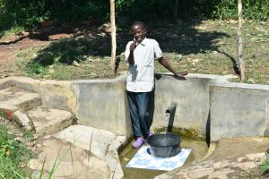 The Water Project:  Nicholas Muhatia Posing At The Water Point