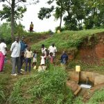 The Water Project: Mungakha Community, Nyanje Spring -  Busy Nyanje Spring