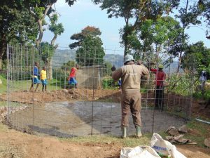 The Water Project:  Fitting The Rain Tank Wire Form