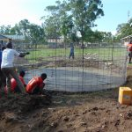 The Water Project: Ematiha Secondary School -  Adding The Rebar Form Of The Rain Tank