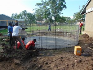 The Water Project:  Adding The Rebar Form Of The Rain Tank
