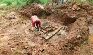The Water Project:  Brick Laying Begins