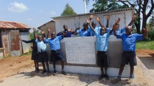The Water Project:  Boys Celebrate Their New Latrines