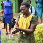 The Water Project: Elufafwa Community School -  Trainer Joyce Demonstrating Handwashing
