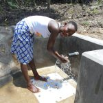 The Water Project: Bung'onye Community, Shilangu Spring -  Enjoying The Spring Water
