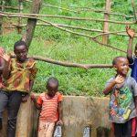 The Water Project: Mushina Community, Shikuku Spring -  Kids Celebrate The Spring