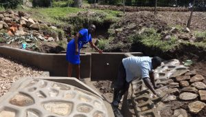 The Water Project:  Field Officer Mary Afandi Talking About The Spring