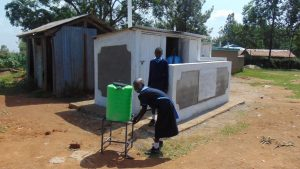 The Water Project:  Handwashing Outside The Girls Latrines
