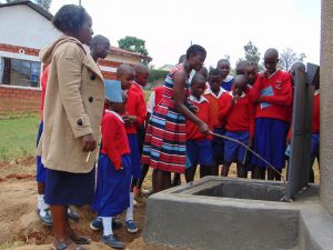 The Water Project:  Jemmimah Points Out The Tap System