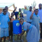 The Water Project: Womulalu Special School -  Students And Teachers With A Handwashing Station
