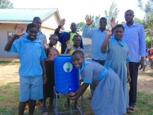 The Water Project:  Students And Teachers With A Handwashing Station