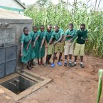 The Water Project: Elufafwa Community School -  Clean Water Flowing
