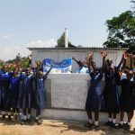 The Water Project: Enyapora Primary School -  Girls Celebrate Their New Latrines