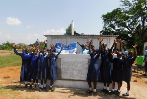 The Water Project:  Girls Celebrate Their New Latrines