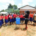 The Water Project: Goibei Primary School -  Trainer Laura Leading A Handwashing Practical