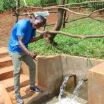The Water Project: Mushina Community, Shikuku Spring -  Thumbs Up For Clean Water