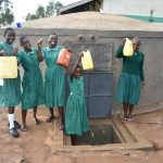 The Water Project: Elufafwa Community School -  Drawing Water For Cleaning The Vip Latrines