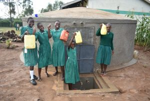 The Water Project:  Drawing Water For Cleaning The Vip Latrines