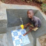 The Water Project: Shamakhokho Community, Imbai Spring -  Getting A Fresh Drink