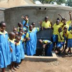 The Water Project: Musasa Primary School -  Students Celebrate The Tank