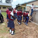 The Water Project: Ematiha Secondary School -  Students Take A Look Inside The Tank