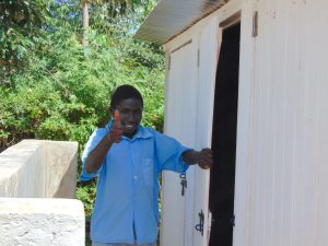 The Water Project:  Thumbs Up For New Boys Latrines