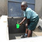 The Water Project: Mukangu Primary School -  Getting A Clean Fresh Drink