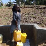 The Water Project: Bungaya Community, Charles Khainga Spring -  Fetching Clean Water