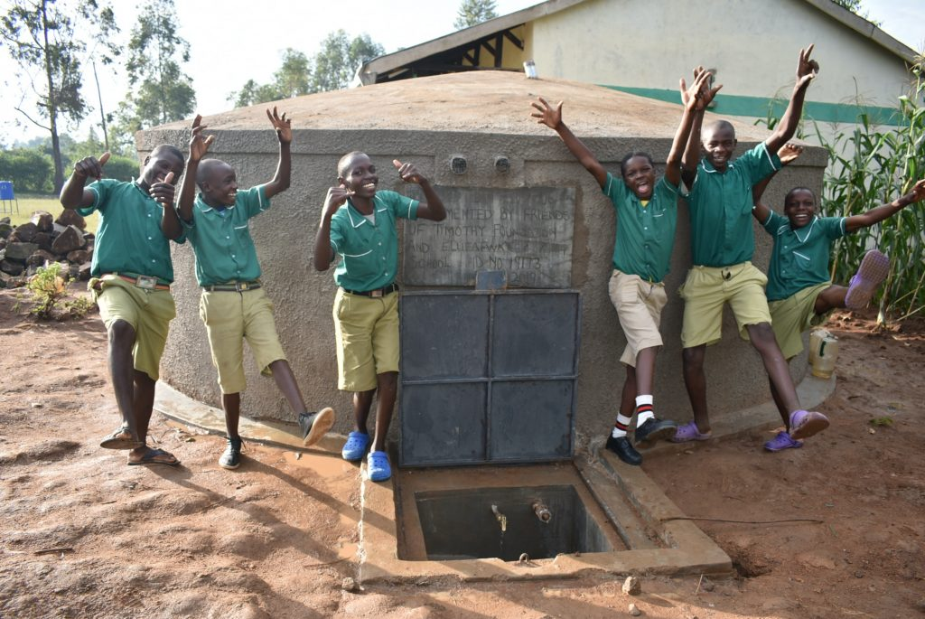 The Water Project : 38-kenya19173-happy-faces-at-the-water-tank-3
