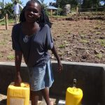 The Water Project: Bungaya Community, Charles Khainga Spring -  Happy Fetching Water