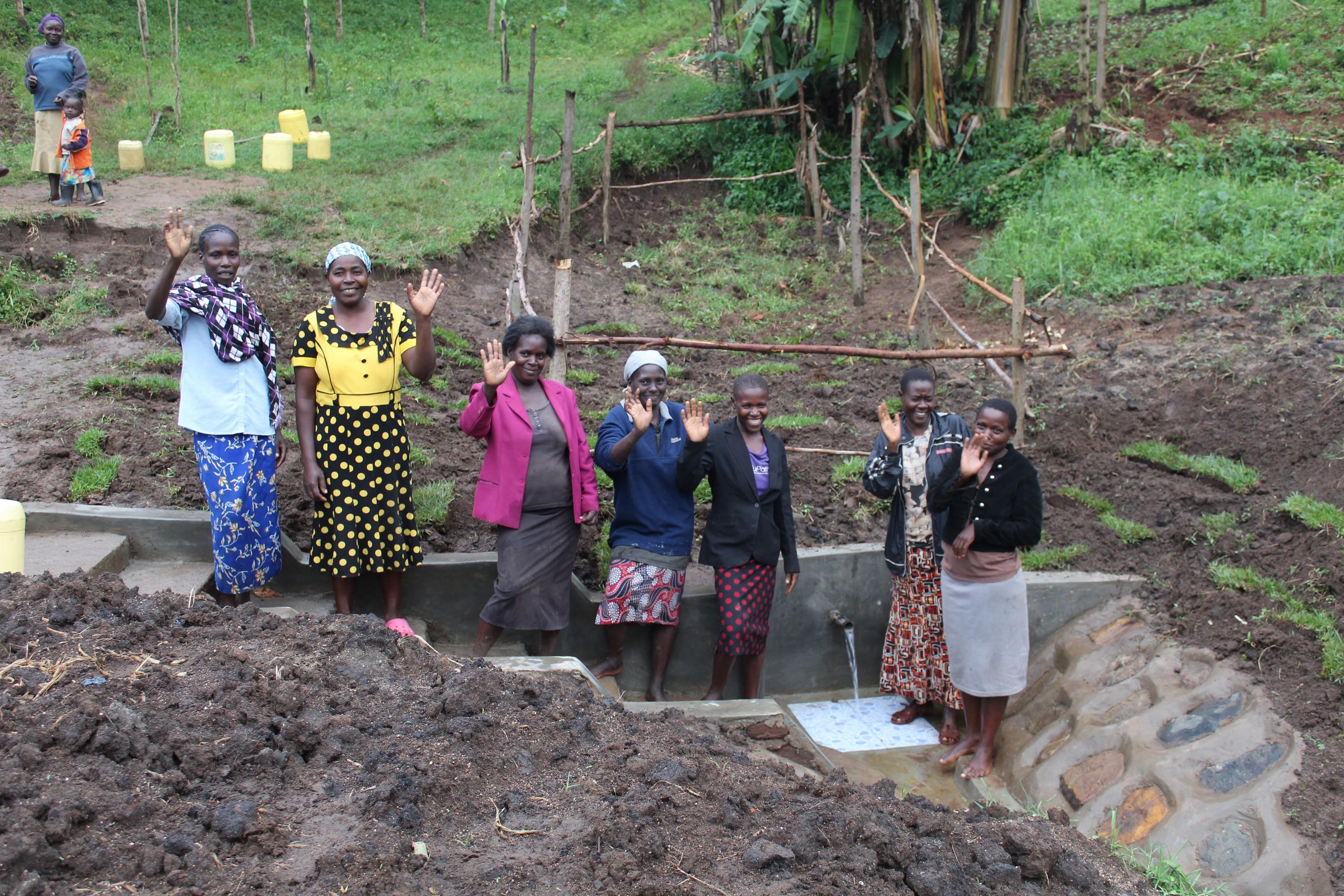 The Water Project : 39-kenya19152-happy-community-members