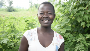 The Water Project:  Charity Njilu Smiles While Being Interviewed
