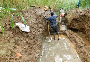 The Water Project:  Laying Foundation While Diverting Water
