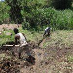 The Water Project: Bungaya Community, Charles Khainga Spring -  Drainage Opening