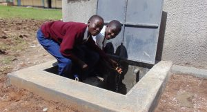 The Water Project:  Students At The Rain Tank