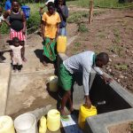 The Water Project: Bungaya Community, Charles Khainga Spring -  Fetching Water