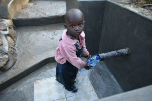 The Water Project:  Even Children Can Safely Access The Spring